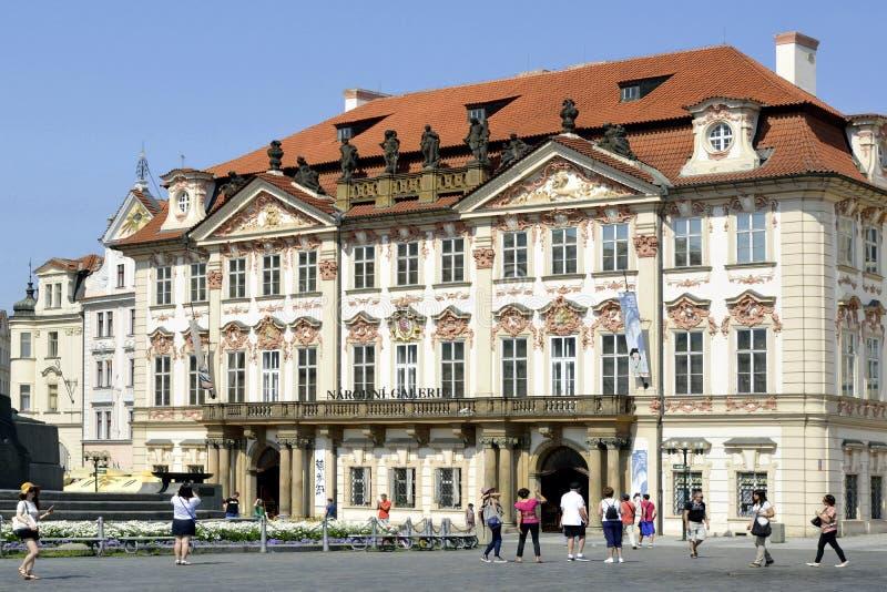 布拉格-捷克的老镇中心 免版税图库摄影