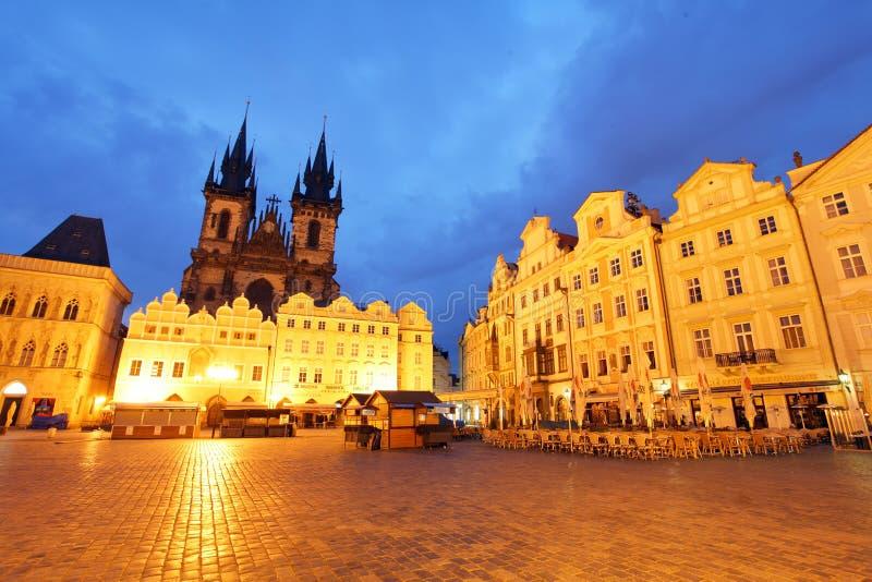 布拉格-老镇中心 库存照片