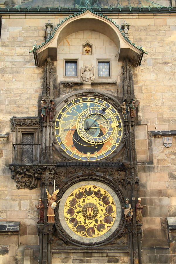 布拉格Orloj 库存图片
