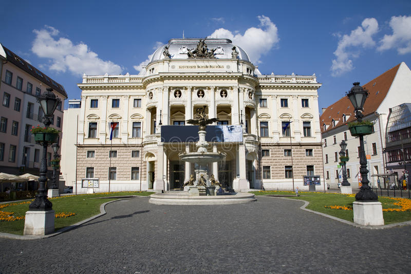 布拉索夫国家斯洛伐克剧院 免版税库存照片
