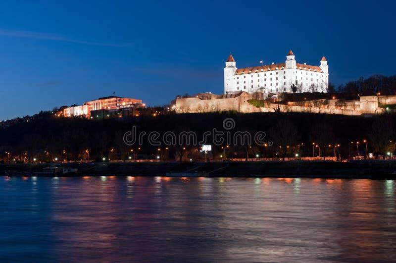 布拉索夫城堡晚上 图库摄影