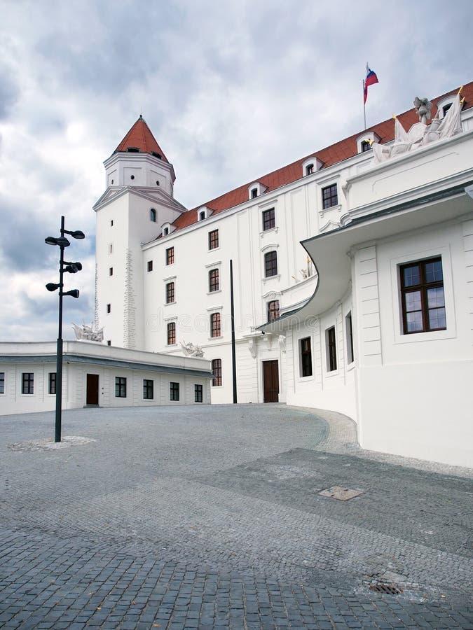 布拉索夫城堡,斯洛伐克主要庭院  免版税库存图片