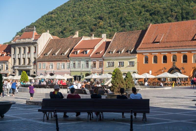 布拉索夫, TRANSYLVANIA/ROMANIA - 9月20日:镇s的看法 免版税库存图片