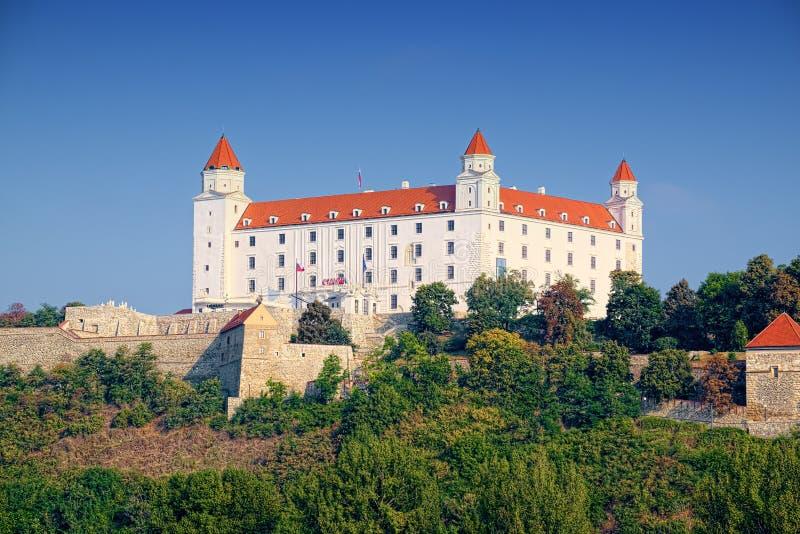 布拉索夫城堡Bratislavsky hrad,斯洛伐克 免版税库存图片