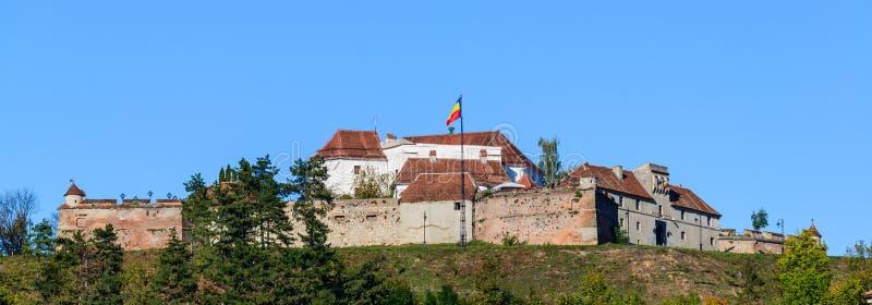 布拉索夫堡垒在罗马尼亚 库存照片