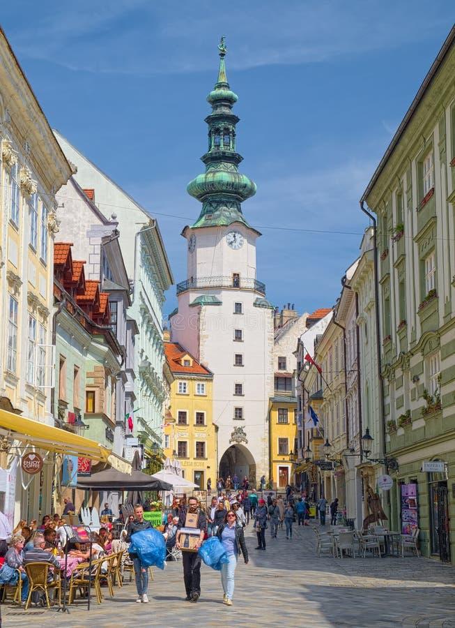 布拉索夫,斯洛伐克耶路撒冷旧城  免版税图库摄影
