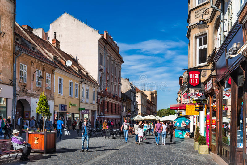 布拉索夫,罗马尼亚街市  免版税库存图片