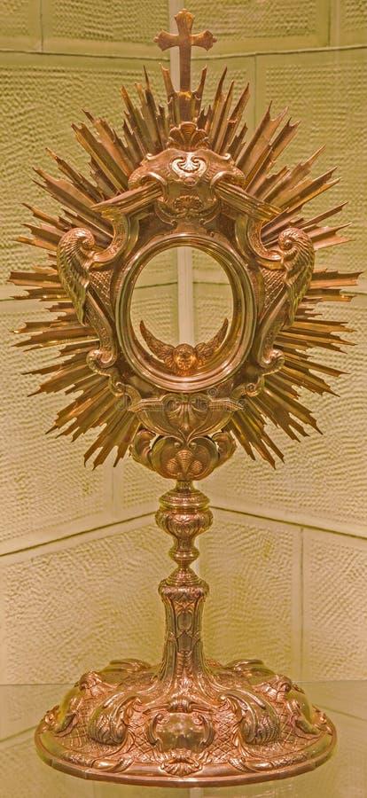 布拉索夫-巴洛克式的圣体匣在圣Martins大教堂圣器收藏室  图库摄影