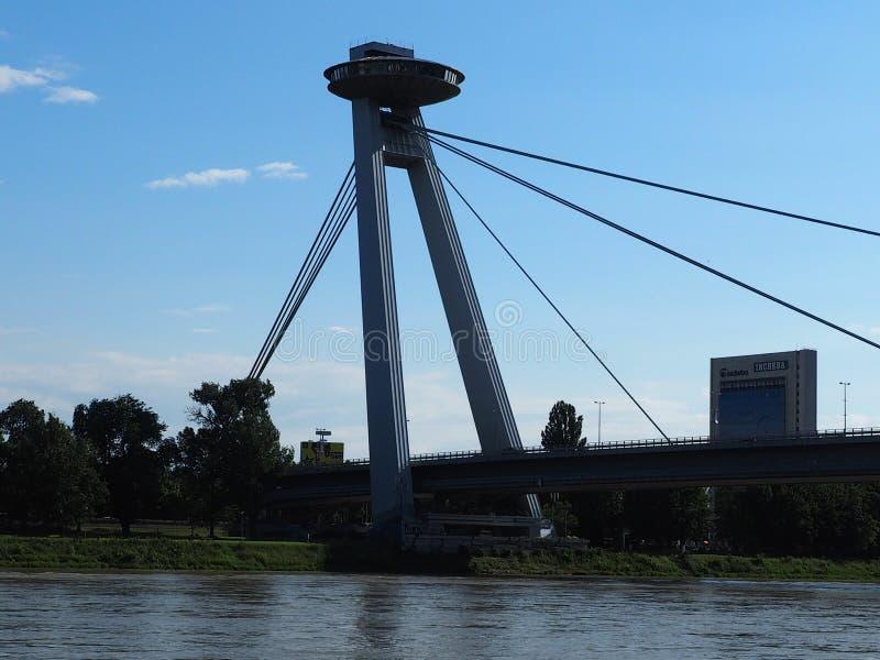 布拉索夫- SNP桥梁2016年斯洛伐克 库存图片