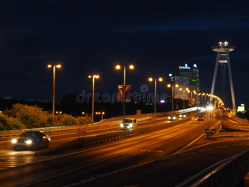 布拉索夫- SNP桥梁2016年斯洛伐克 库存照片