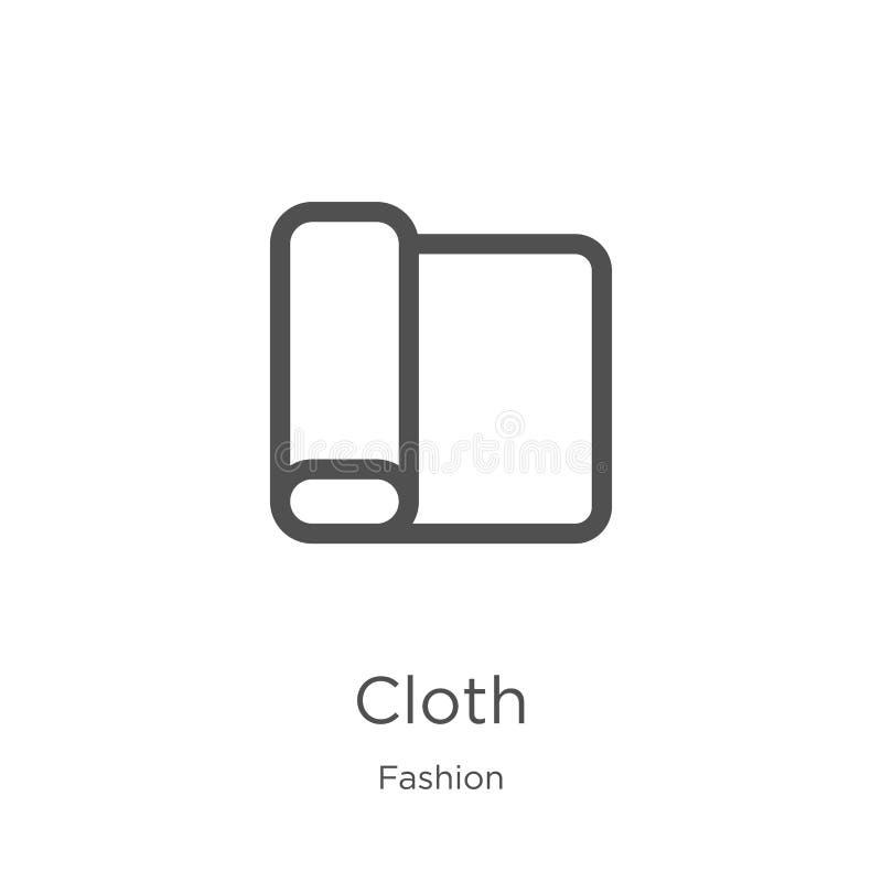 布料从时尚汇集的象传染媒介 稀薄的线布料概述象传染媒介例证 概述,稀薄的线布料象为 库存例证