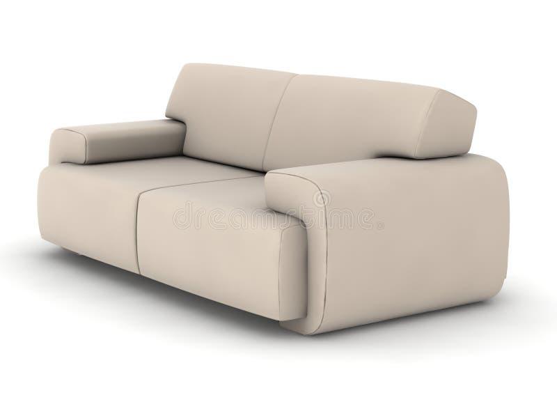 布料沙发 库存例证