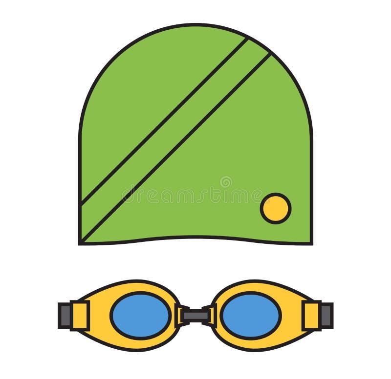 布料游泳者运动服传染媒介 皇族释放例证