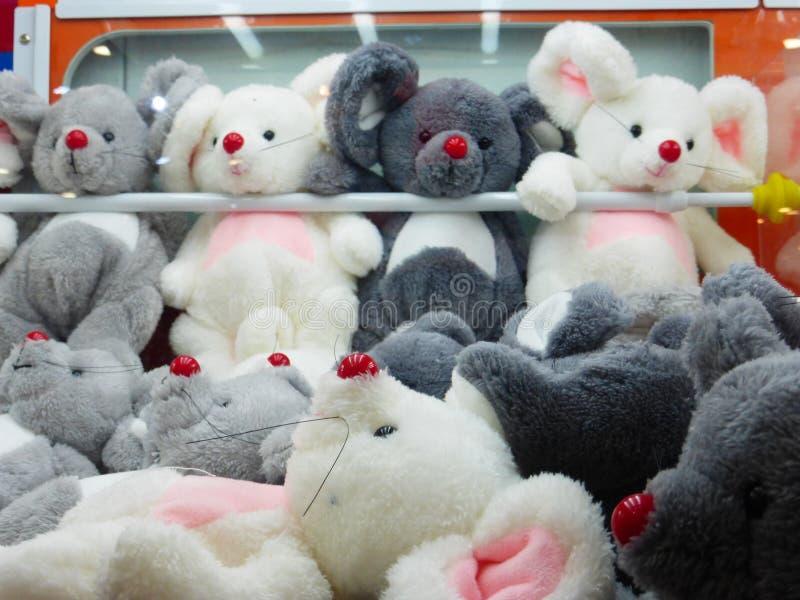 布料玩具动物塑造,有趣和可爱 库存图片