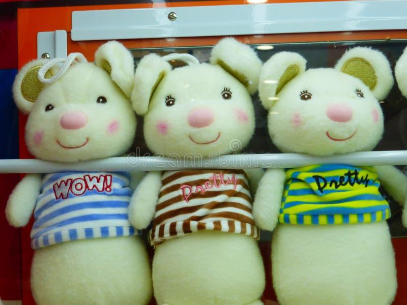 布料玩具动物塑造,有趣和可爱 免版税库存图片