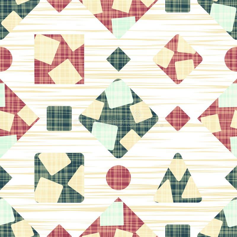 布料的网眼图案与几何形状 向量例证
