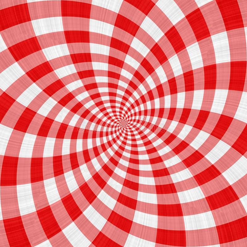布料红色漩涡格子呢 库存例证