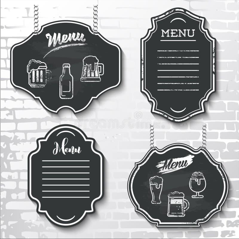 布景元素黑板菜单传染媒介样品标记shapes_ 皇族释放例证