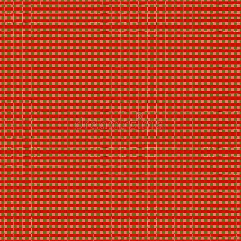 布朗五颜六色的方形的马赛克设计样式背景 向量例证
