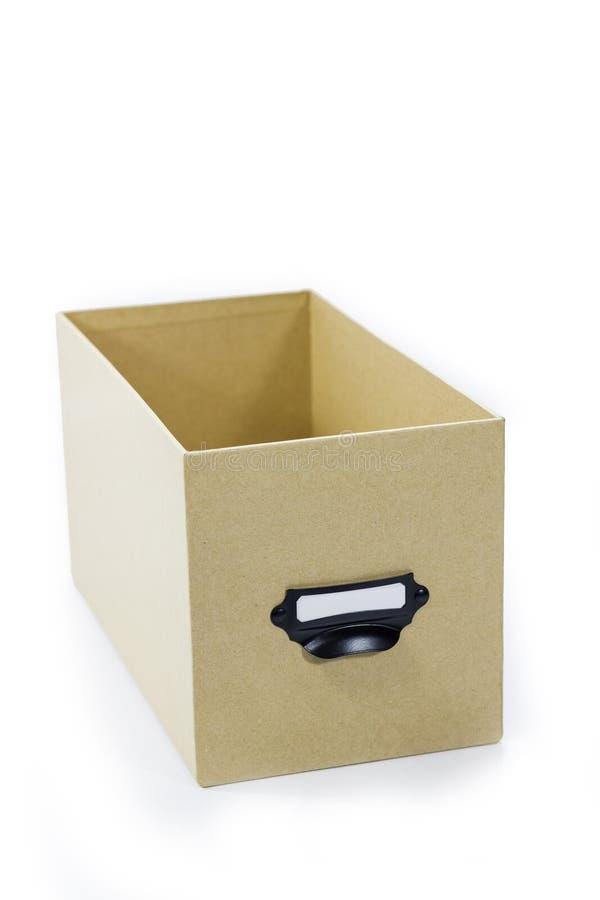 布朗储藏盒 免版税库存照片