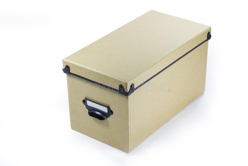 布朗储藏盒 库存照片