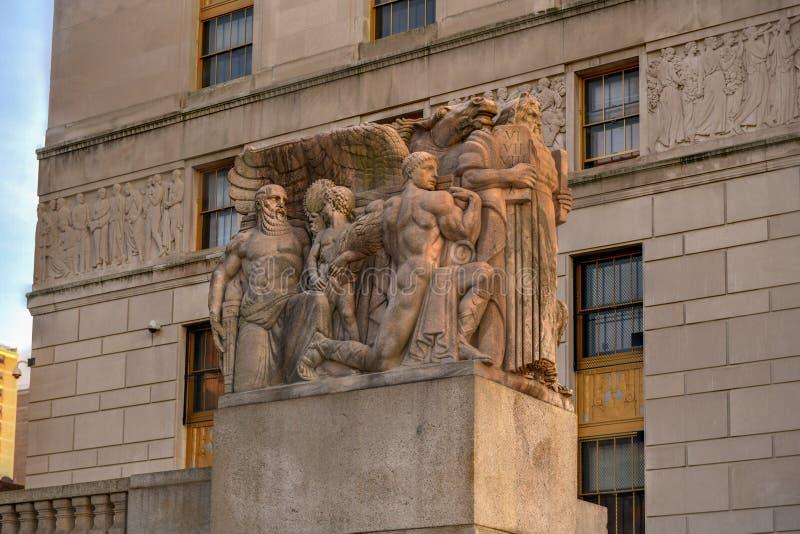 布朗克斯市政厅-纽约 库存图片