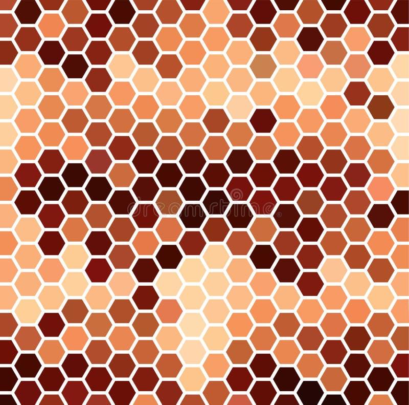 布朗六角样式 库存例证