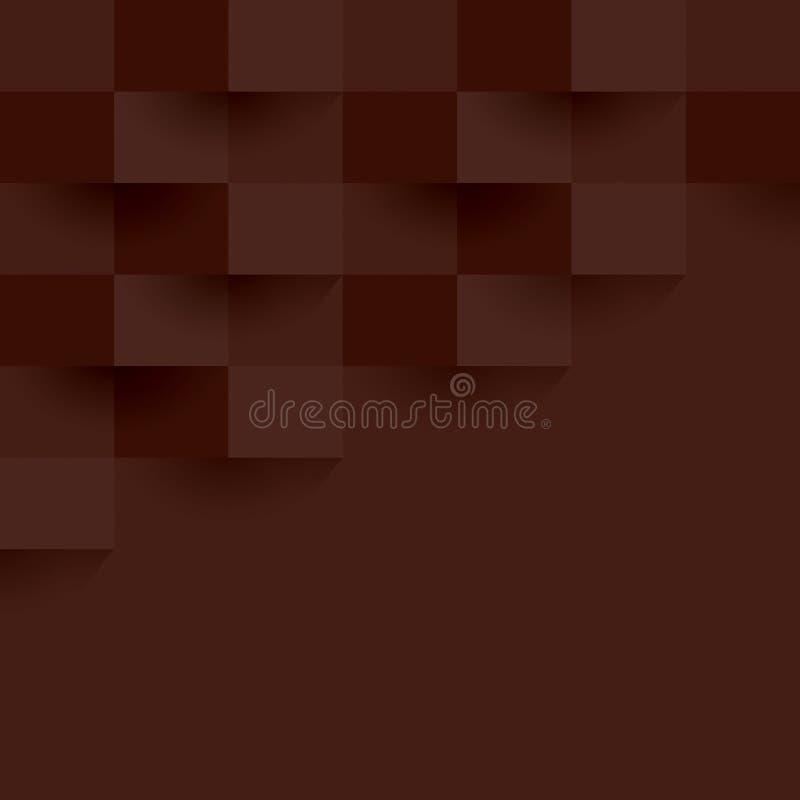 布朗几何样式,抽象背景模板 皇族释放例证