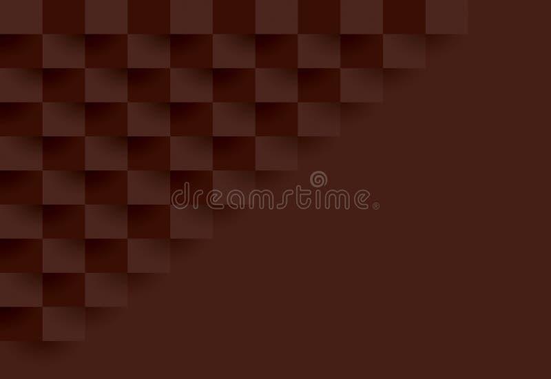 布朗几何样式,抽象背景模板 库存例证