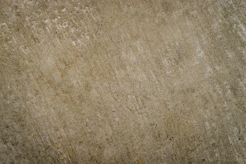 布朗含沙概略的水泥表面纹理 免版税图库摄影