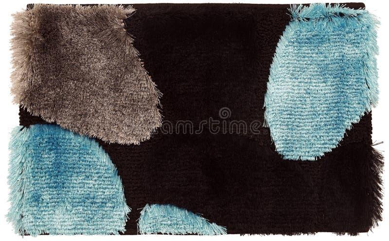 布朗呈了杂色丝绸黑/蓝色/巧克力擦鞋垫 库存图片