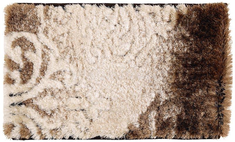 布朗呈杂色的羊毛变褐/黑/巧克力擦鞋垫 免版税库存照片