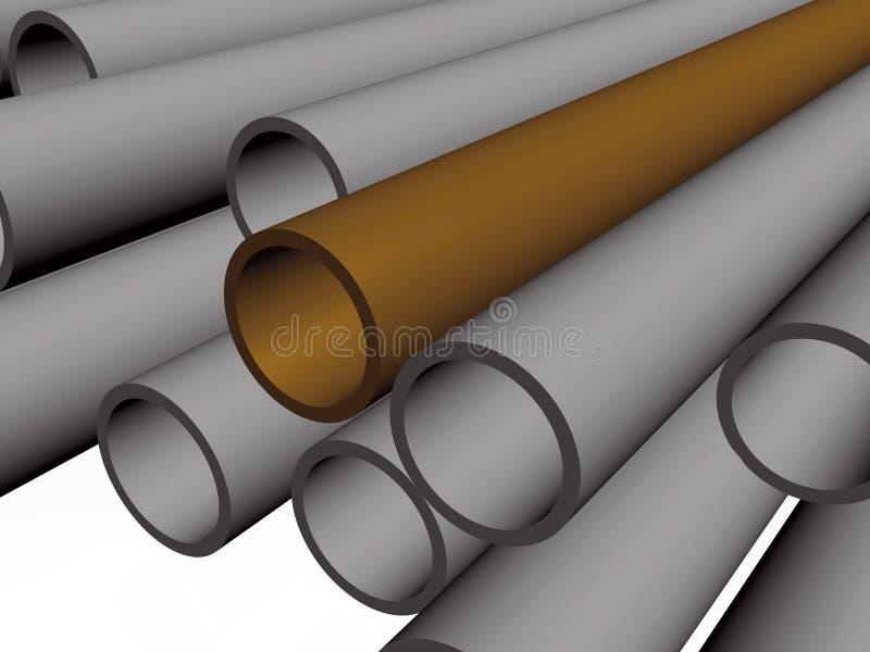布朗和灰色管子 向量例证