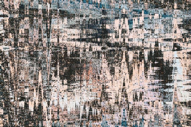 布朗和黑色抽象水彩数字式艺术绘backgroun 向量例证