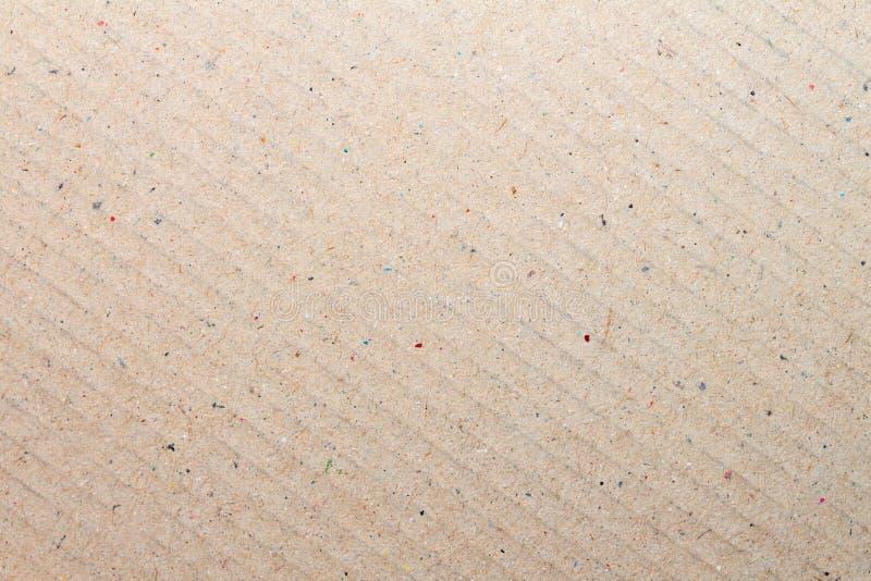 布朗回收了背景的纸板纸纹理 免版税库存照片