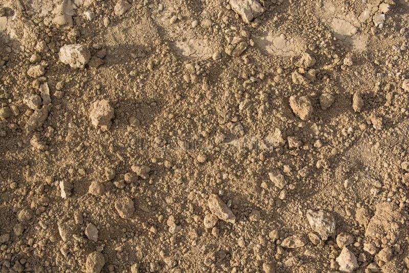 布朗土壤纹理 库存照片