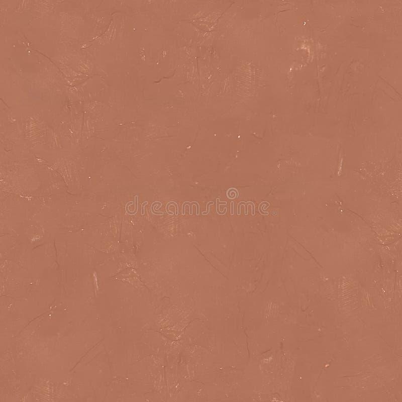布朗墙壁灰泥无缝的纹理或背景 免版税库存图片