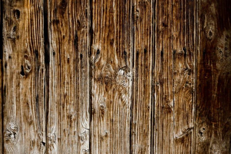 布朗墙壁由木板条做成 文本的背景 免版税库存图片
