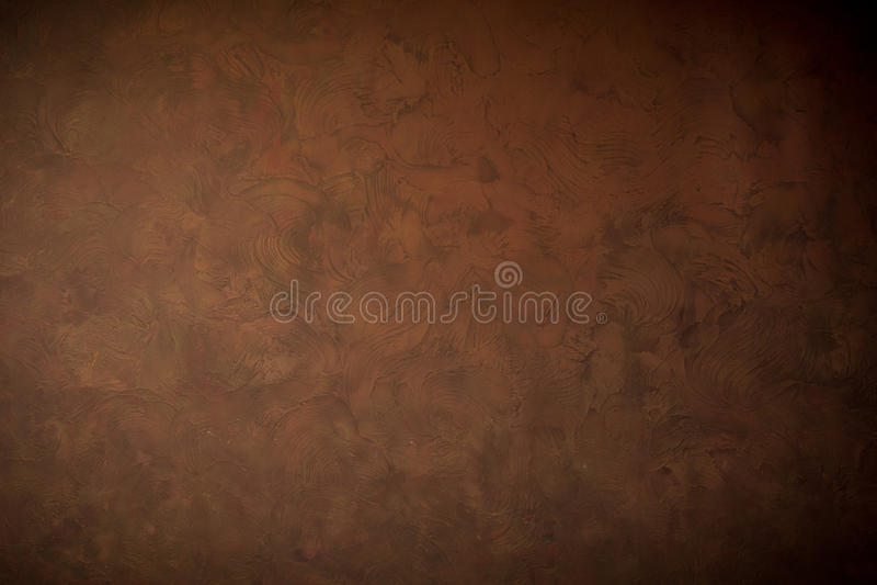布朗墙壁背景和纹理 免版税库存图片