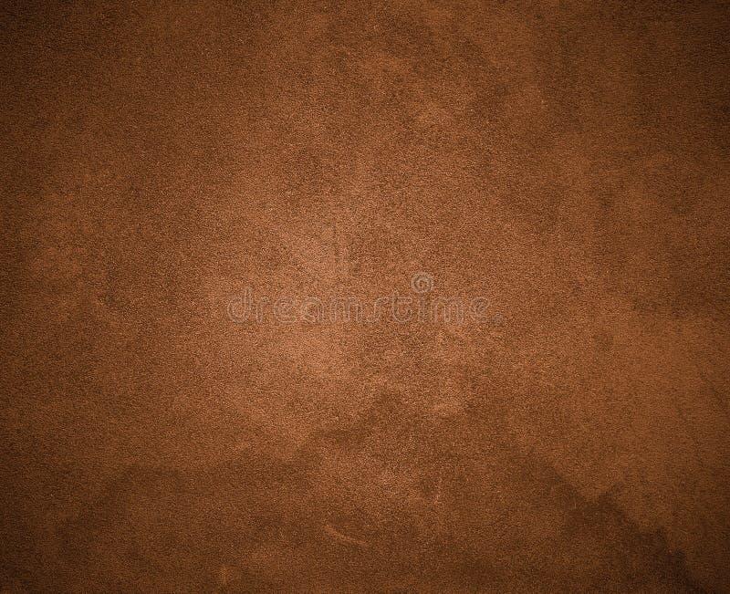 布朗墙壁背景纹理 免版税库存图片