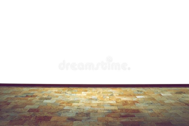 布朗大理石砖地和白色墙壁房子 图库摄影