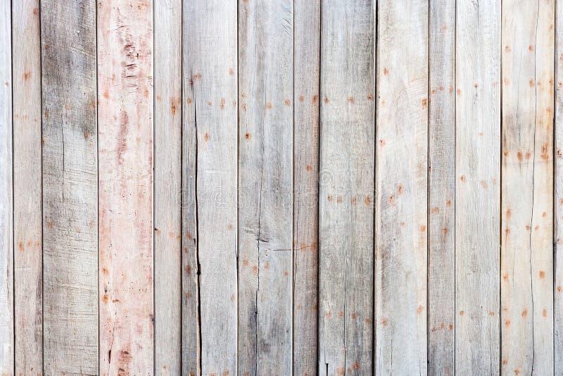 布朗干净的木板条墙壁纹理背景 免版税库存图片