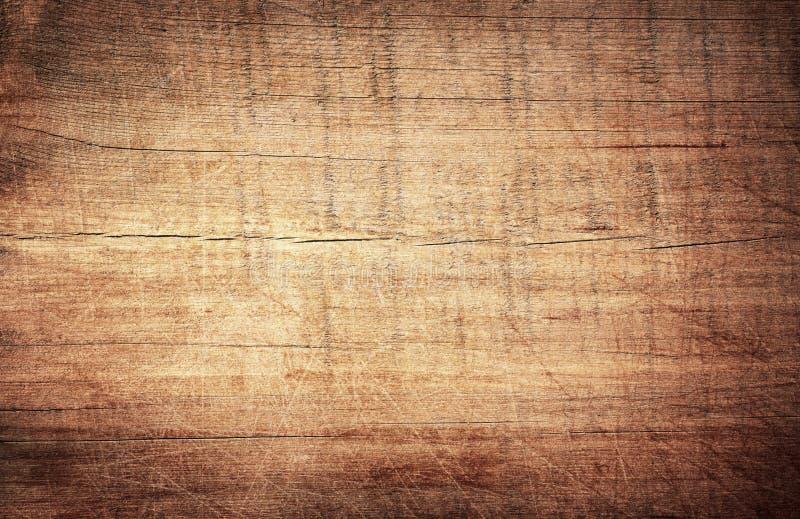 布朗抓了木切板 木纹理 库存照片
