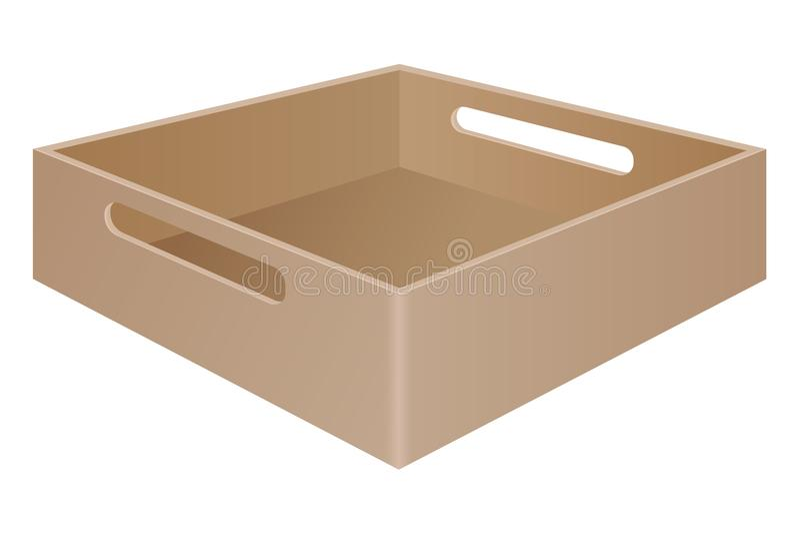 布朗有劫掠把柄的盘子箱子 向量例证