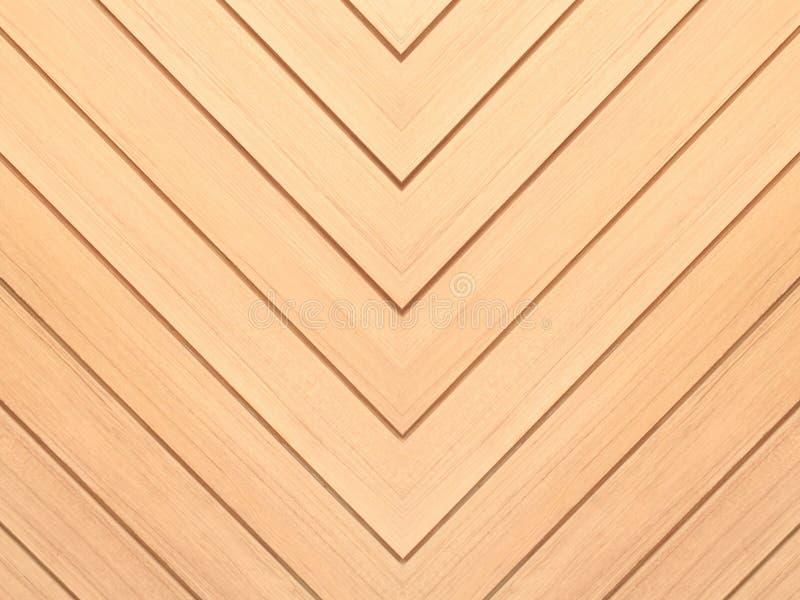 布朗木头背景 雪佛自然橡木地板样式纹理 免版税图库摄影