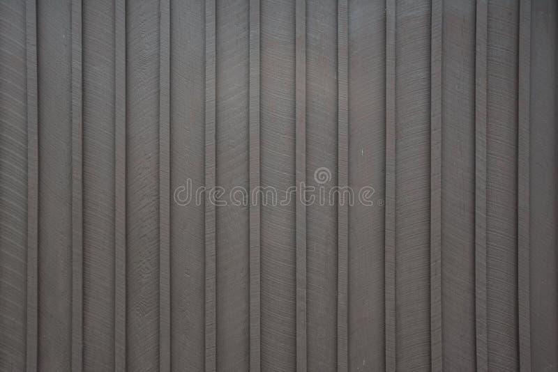布朗木房屋板壁垂直条纹 库存照片