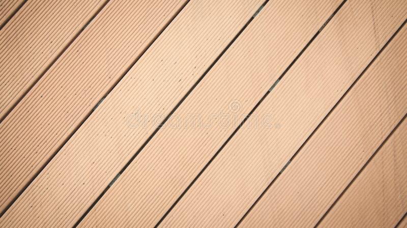 布朗木条地板背景 板条地板木条地板 免版税库存照片