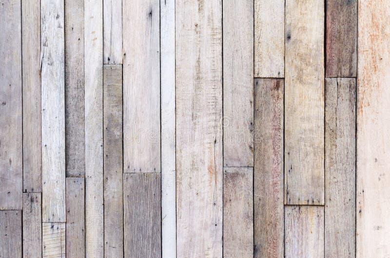 布朗木板条墙壁纹理背景 免版税库存照片