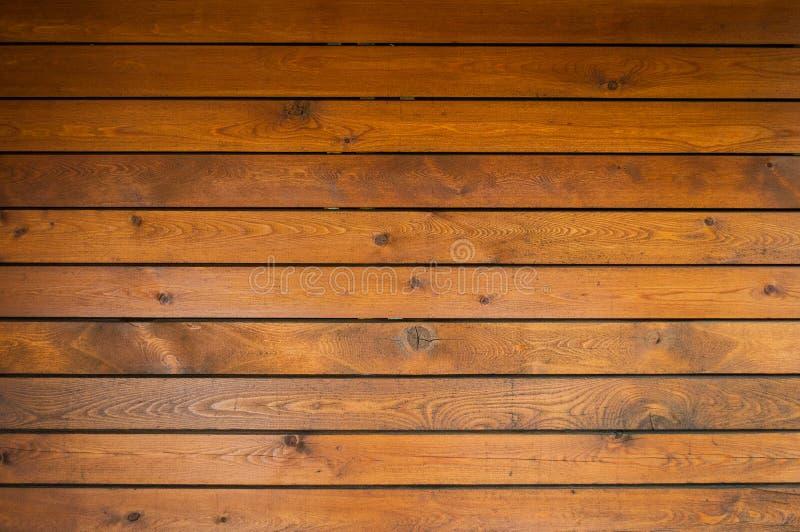布朗木纹理背景,木板条 免版税库存照片