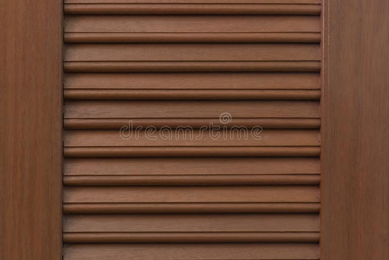 布朗木门纹理 库存照片